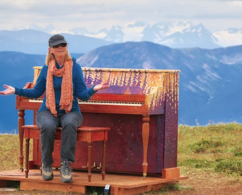 Piano on Hudson Bay Mountain, Smithers, BC