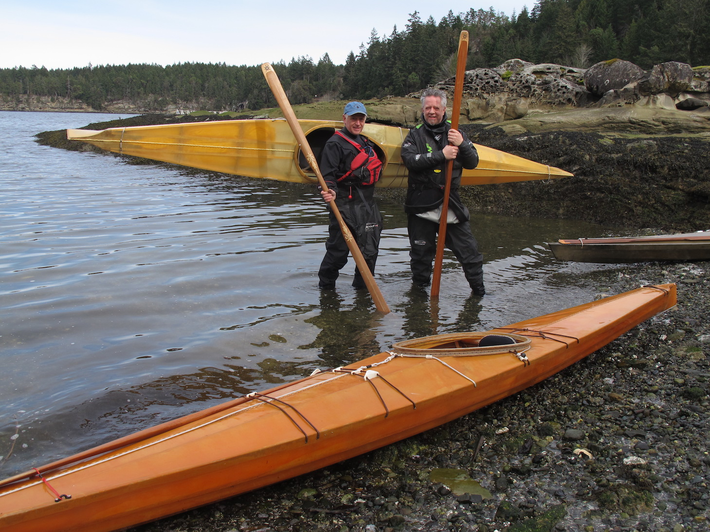 Skin on frame kayak plans - Brian Henry Ron Crown With Skin On Frame Kayaks