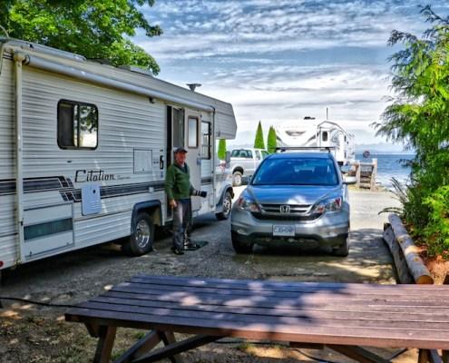 Bates Beach RV Park, Courtenay, BC Visitor in Victoria
