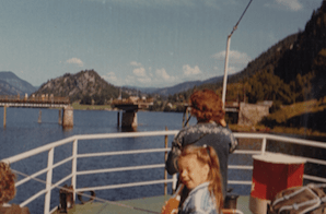 My mom and me on the MS Victoria in Norway 1972