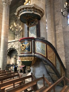 Carcassonne's walled city Pulpit in Basilica of Saints Nazarius and Celsus