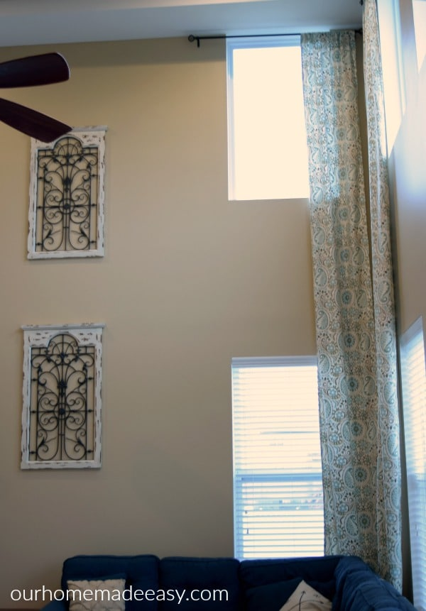 easy diy two story curtain panels in