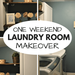 Free Kitchen Makeover Counter Rack Updating The Laundry Room Decor In One Weekend • Our Home ...
