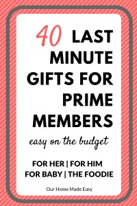 40 Last Minute Gifts for Prime Members On a Budget!