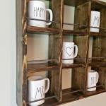 How To Build A Diy Rae Dunn Coffee Mug Holder Our Home Made Easy