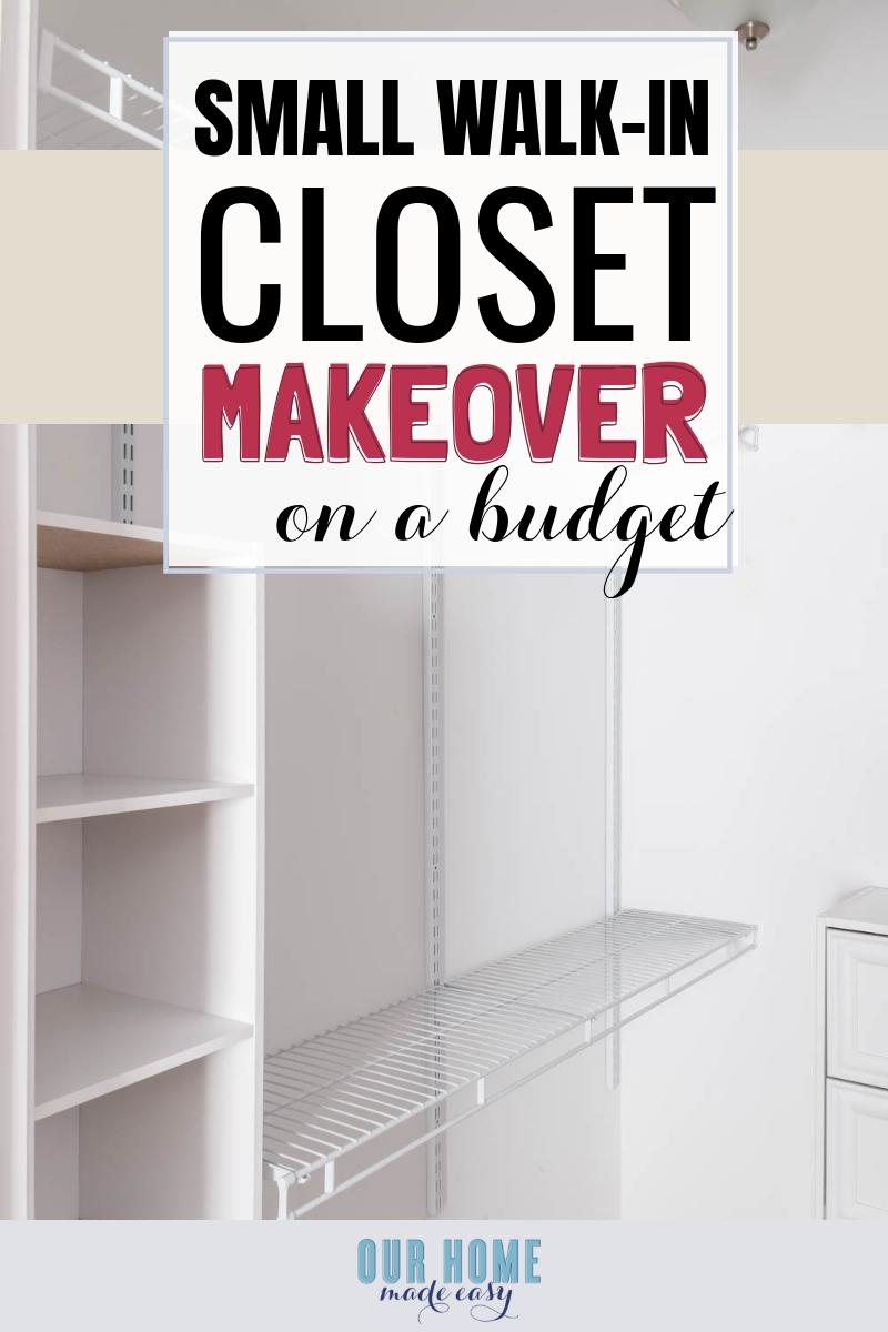 Diy Small Bedroom Closet Organization Reveal Our Home Made
