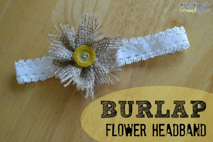 Burlap Flower Headband Final
