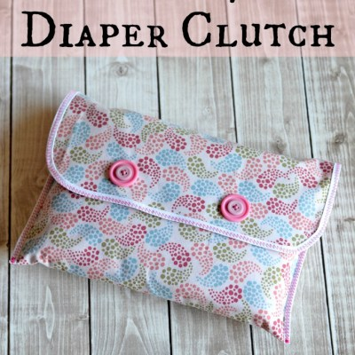 Gifting Baby Diapers? Make this Simple Diaper Clutch!
