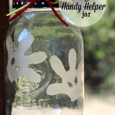 DIY Etched Glass Mickey Handy Helpers Jar