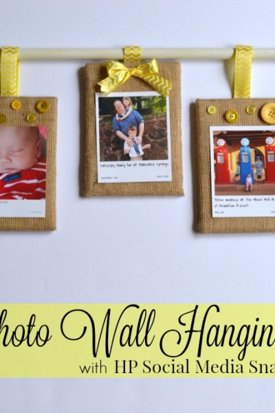Burlap Décor: DIY Family Photo Wall Hanging