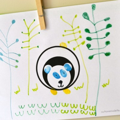 Panda Printable Fingerprint Activity