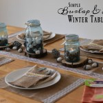 Simple Winter Tablescape that is Perfect for Easy Cleaning