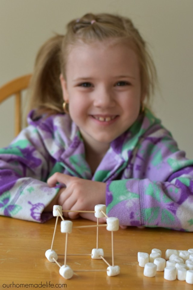 sciecne in the kitchen - marshmallows sculptures
