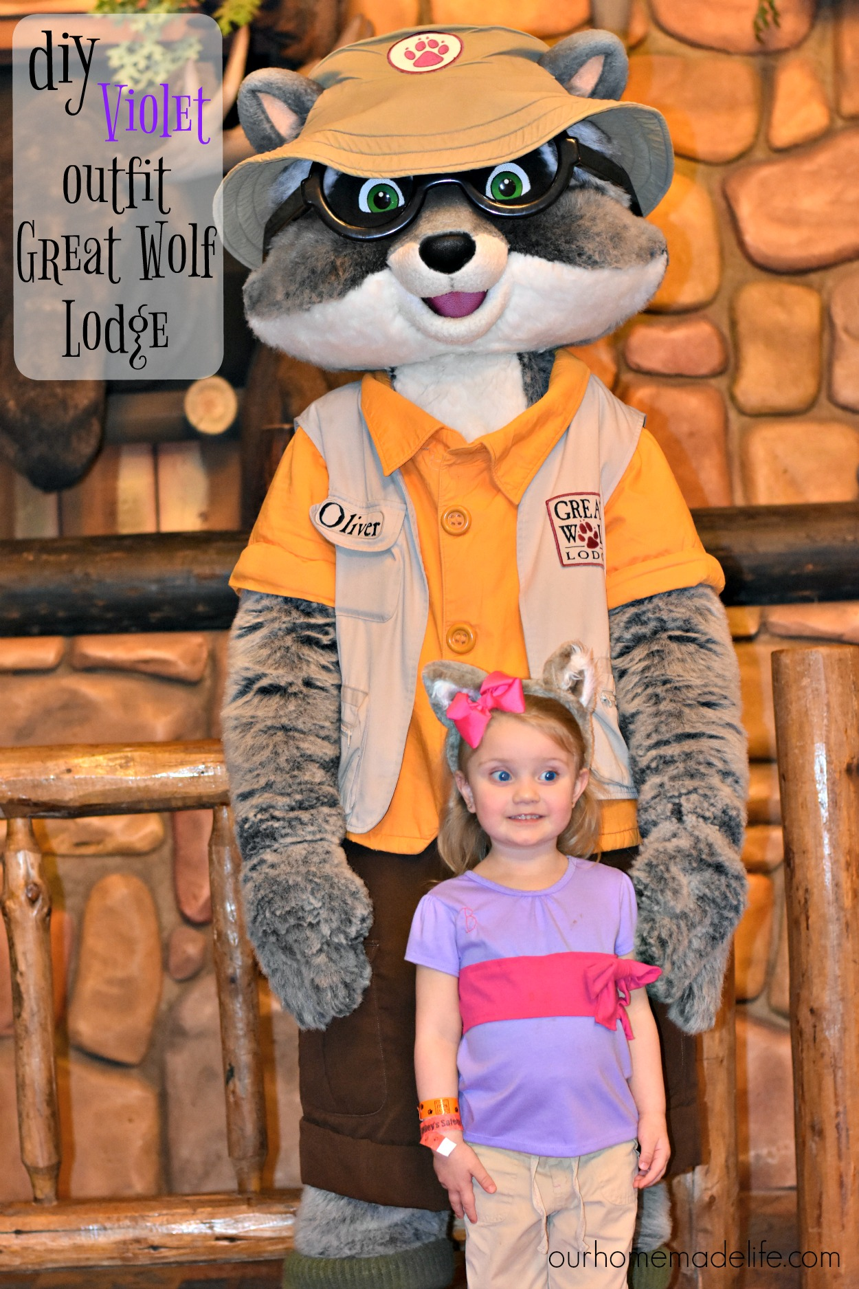 DIY Violet Costume at Great Wolf Lodge - Our Homemade Life