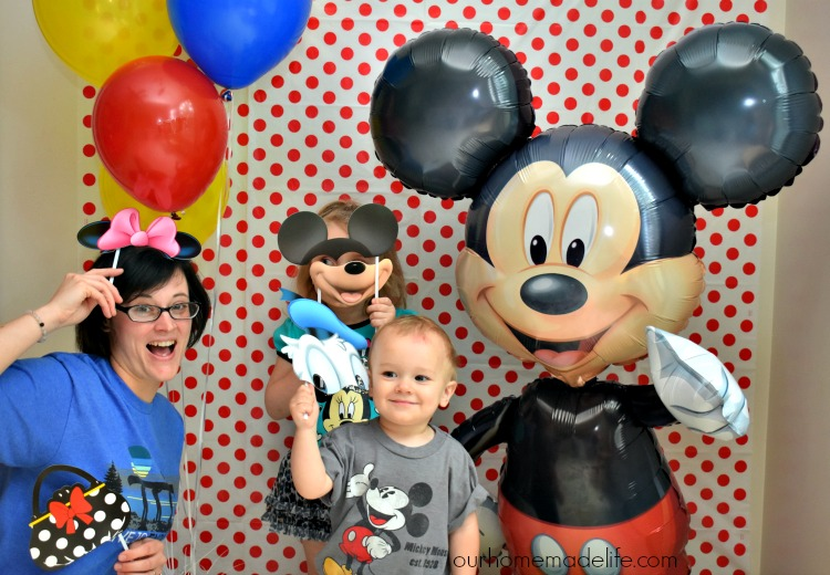Disney Kids Mickey Party - Photobooth Fun - OurHomemadeLife.com