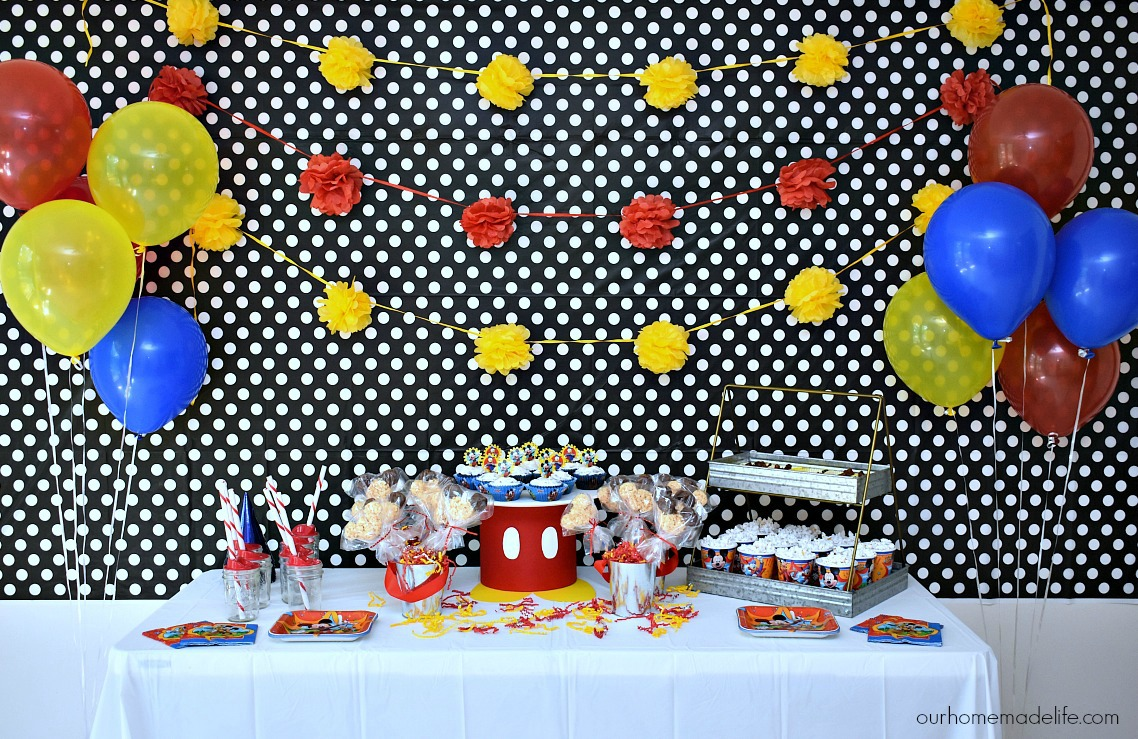 Disney Kids Mickey Party - OurHomemadeLife.com