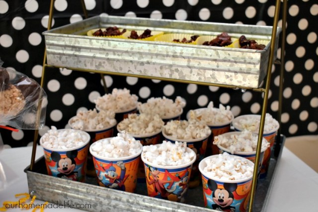 Disney Kids Mickey Party - Snacks - OurHomemadeLife.com