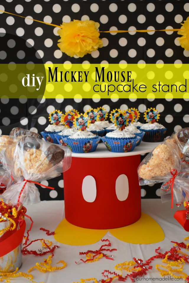 DIY Mickey Mouse Cupcake Stand - OurHomemadeLife.com