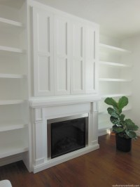 Built-In Fireplace & TV Nook With Doors | Our Home Notebook