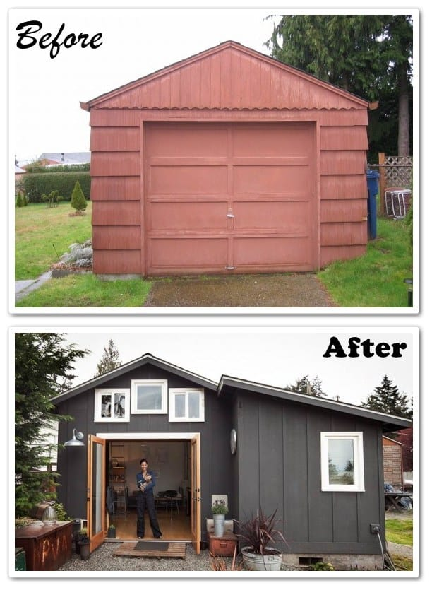How to build a garage mini house our home sweet home for Garage built homes
