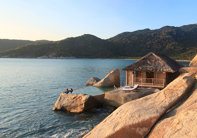 Unique beautiful rock pools at the villa at six senses ninh van bay
