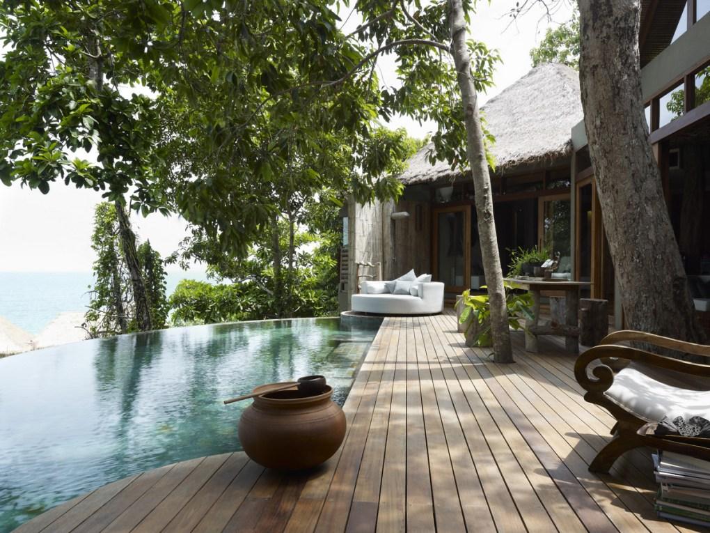 villa with pool deck at song saa island