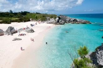 Beach in Horseshoe bay Bermuda