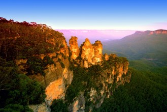 australia new south wales blue mountains 3 sisters