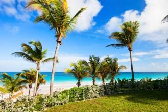Beautiful tropical beach at Harbour island Bahamas
