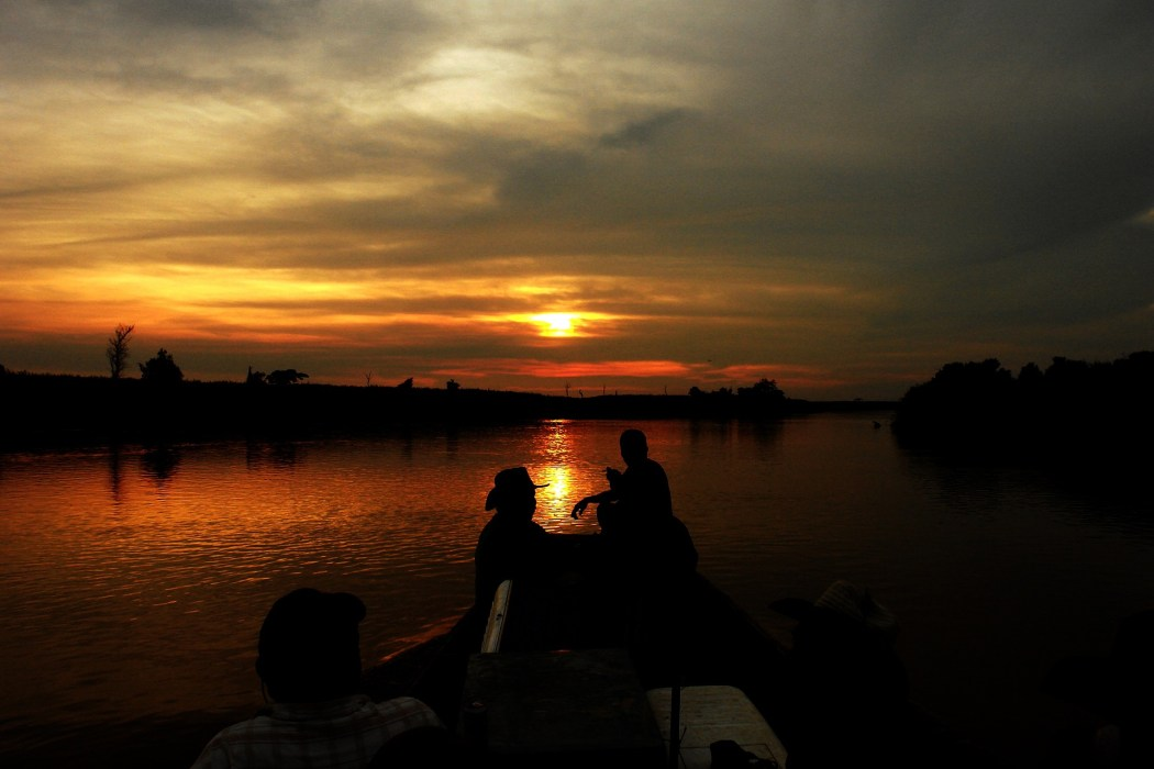 Sunset at the Amazon River