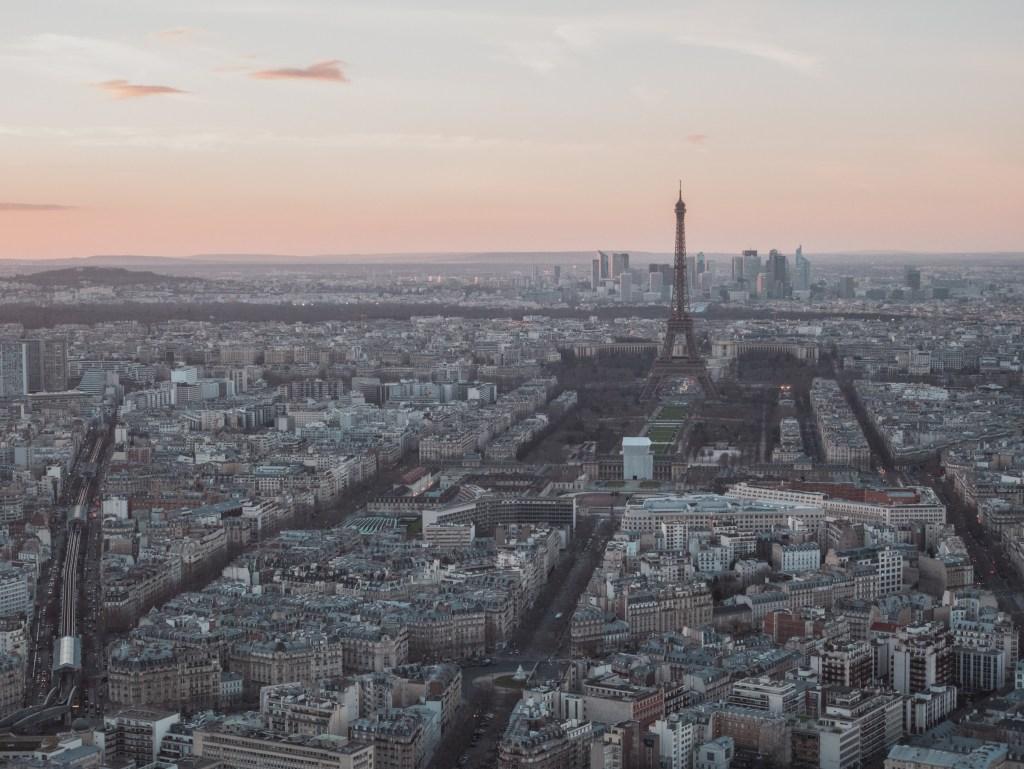 Eiffel from Montparnasse Tower - Three Day Itinerary