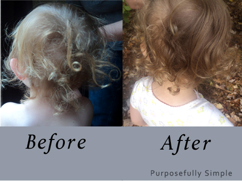 Make your own hair detangling spray with this simple recipe. It's easy to make, inexpensive, and really works. See how I tamed my daughters curls with it.
