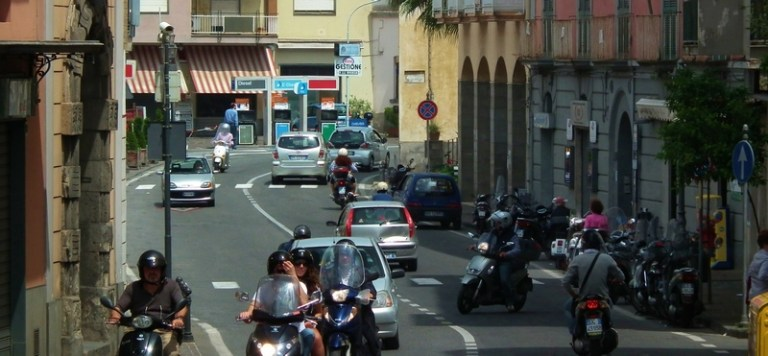 Driving a scooter in Italy can be risky