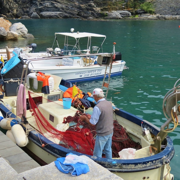 The seafood catch of the day comes from the hard work of Vernazzan fishermen