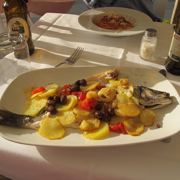 Potatoes with fresh fish is just right