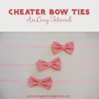 Cheater Bow Ties: An Easy Tutorial