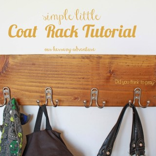 Simple Little Coat Rack Tutorial