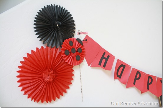 Lady Bug Girl Banner Decor Our Kerrazy Adventure