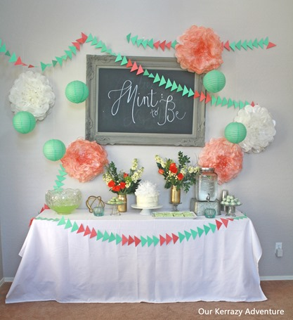 Mint To Be Baby Shower Ideas Our Kerrazy Adventure