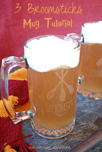 Butterbeer Mug Tutorial and Recipe- Harry Potter Party Ideas