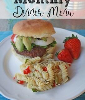 July Monthly Dinner Menu
