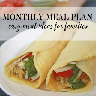 December Monthly Meal Plan