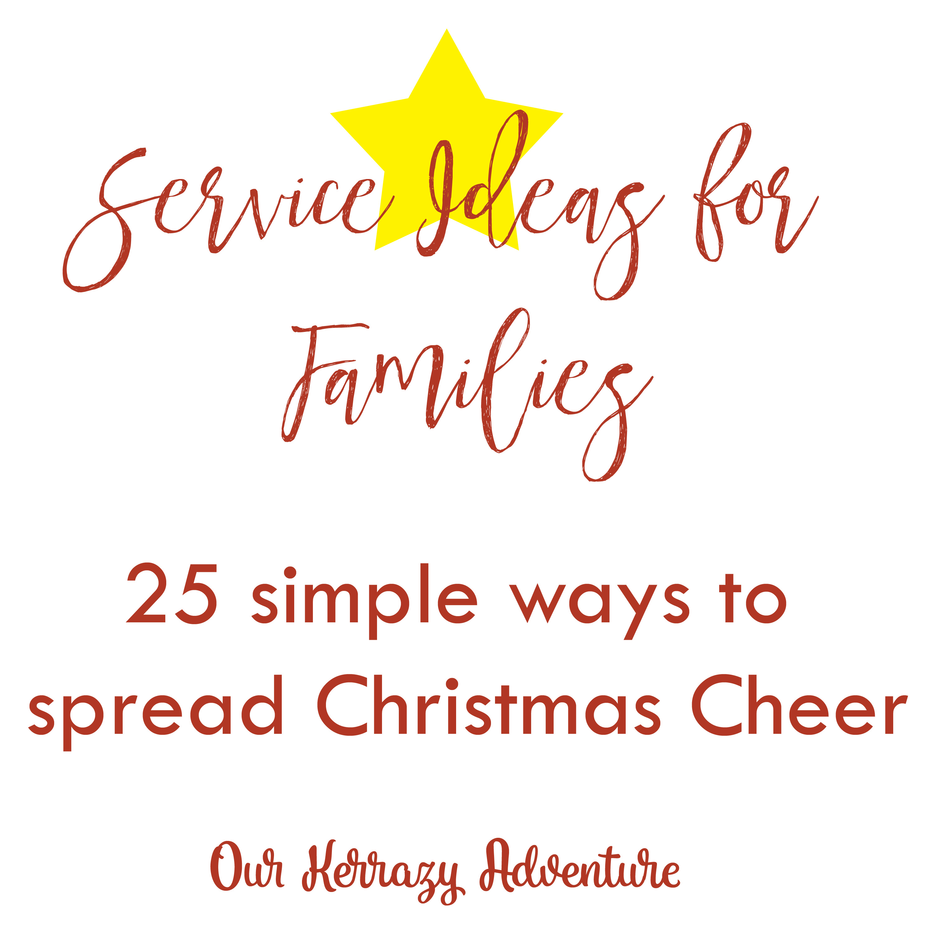 Service Ideas for Families - Our Kerrazy Adventure
