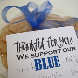 Thankful for Those in BLUE
