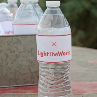 Free Light The World Water Bottle Labels