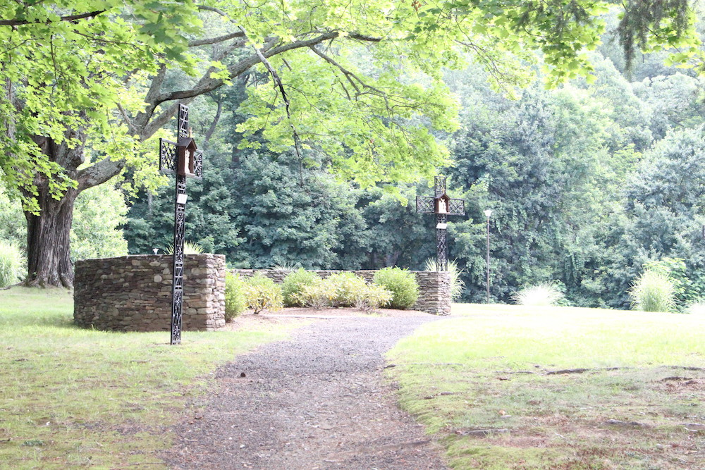 Stations go the Cross in the grounds at OLC