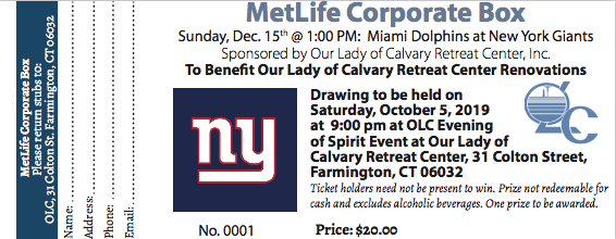 MetLife Corporate Box Raffle Ticket