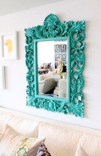 Our Lake Life:Turquoise Mirror Makeover - Our Lake Life