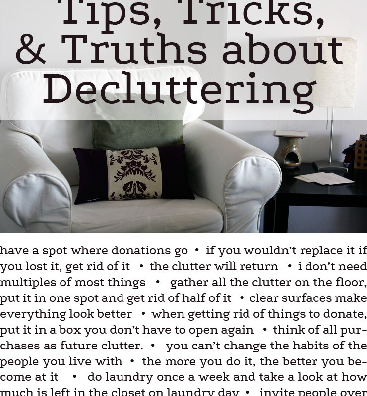 Aprtment Com: What I've Learned About Decluttering