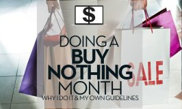 Doing a Buy Nothing Month.